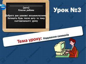 Кодування символів. Інформатика 8 клас